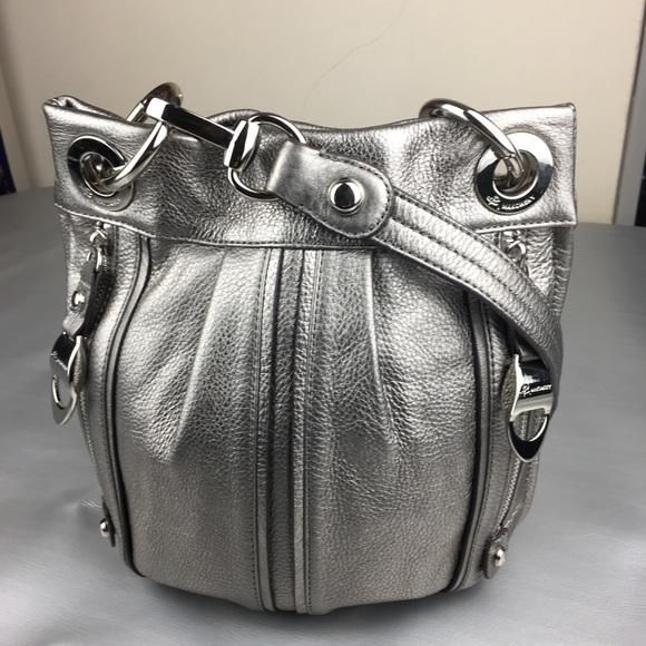 17a8eeff7 b. makowsky Bags | B Makowsky Silver Metallic Crossbody Bag A200532 ...